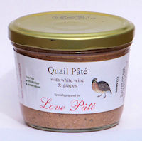 Quail Pâté with White Wine and Grapes [180g]
